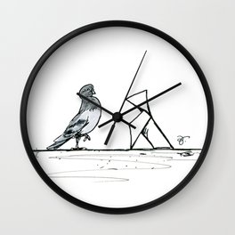 A Few Parisians: Beaubourg by David Cessac Wall Clock