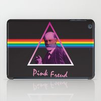 freud iPad Cases featuring Pink Freud by Priscylla Cabral