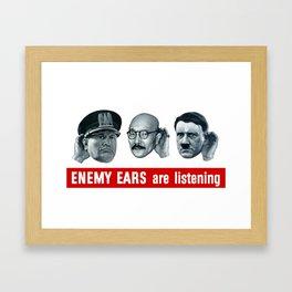 Enemy Ears Are Listening -- WWII Propaganda Framed Art Print