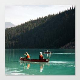 Lake Canoe Canvas Print