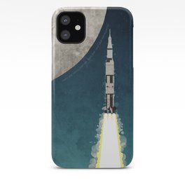 Apollo Rocket Launch to the Moon iPhone Case