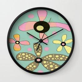 FLOWERY IDA  / ORIGINAL DANISH DESIGN bykazandholly Wall Clock
