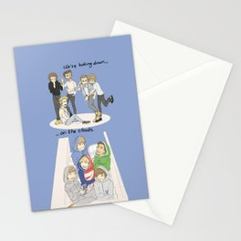 We are looking down on the clouds Stationery Cards