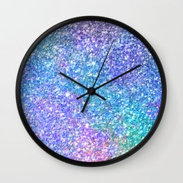 Colorful Glitter Texture Wall Clock