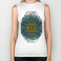 geode Biker Tanks featuring Geode Abstract 01 by Charma Rose