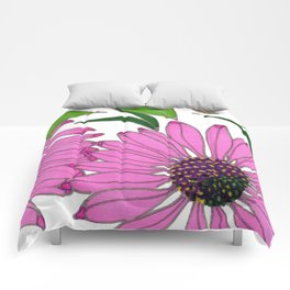 Echinacea by Mali Vargas Comforters