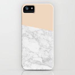 MARBLE FLOW vert gld iPhone Case