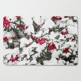 SNOW COVERED HOLLY Cutting Board