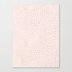 Dotted Gold & Pink Canvas Print