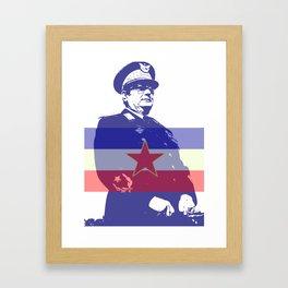 JOSIP BROZ TITO CHAIRMAN YUGOSLAVIA Framed Art Print