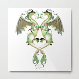 Earthen Love Dragons Metal Print