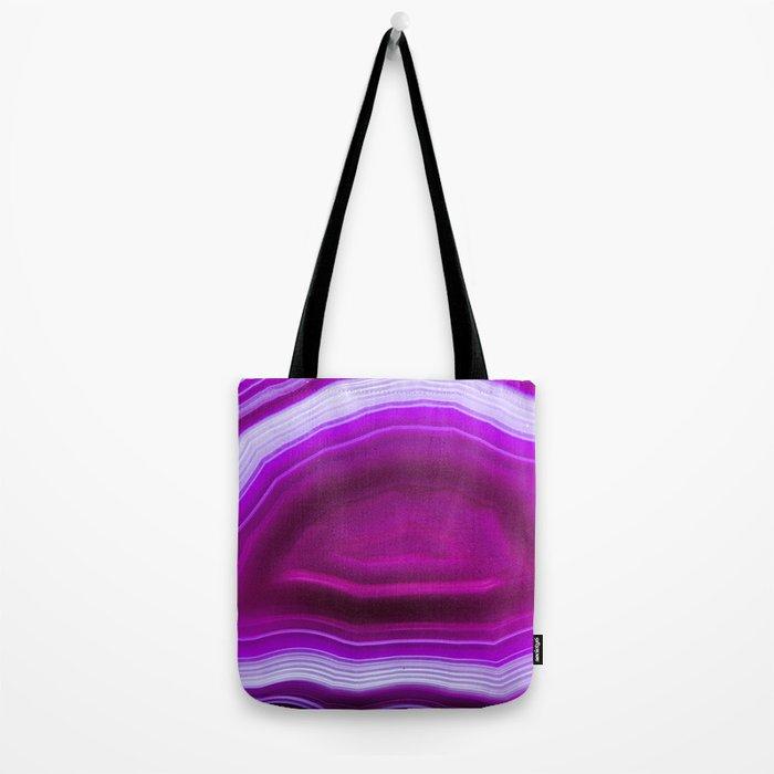 Pink agate Geode Tote Bag
