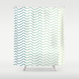 Ombre Waves Shower Curtain
