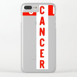 Fck Cancer Research Awareness Vulgar Profanity graphic Clear iPhone Case