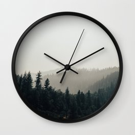 Northern California Forest Wall Clock