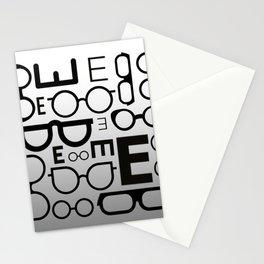 Eye Chart eyeglasses gray glasses Stationery Cards