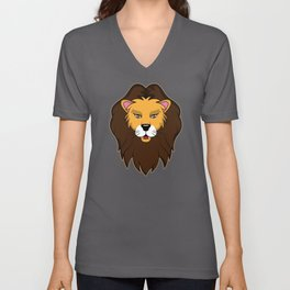 Cute Baby tiger paw smile wildcat Lions Mane gift Unisex V-Neck