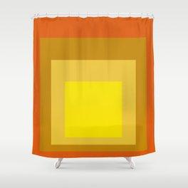 Block Colors - Yellow Gold Orange Shower Curtain