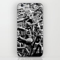 bicycles iPhone & iPod Skins featuring Bicycles by Zita Hisschemöller