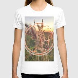 Peel Sunset lll - orange circle graphic T-shirt