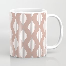 Diamond Lines / Desert Blush Coffee Mug