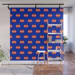 Football Florida University silhouette orange and blue pattern sports college gators gator fan Wall Mural