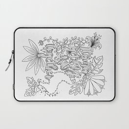 Llama Get My Shit Together Adult Coloring Design Laptop Sleeve