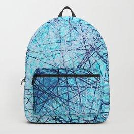 World Wide Web White & Blue Backpack