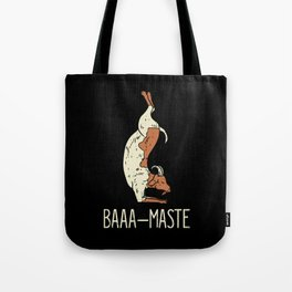 Goat Yoga Design: Baaa Maste I Namaste I Inner Peace I Yogi Tote Bag