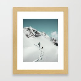 Man And Dog, Greenland Framed Art Print