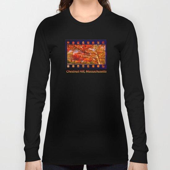 Fall Road,Chestnut Hill, Massachusetts Long Sleeve T-shirt