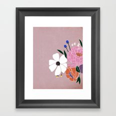 winter floral Framed Art Print