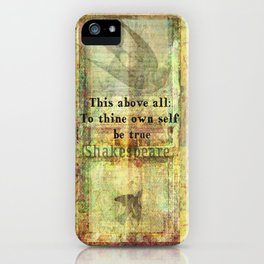 Shakespeare Quote from Hamlet iPhone Case