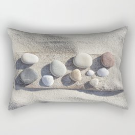 Beach pebble driftwood still life Rectangular Pillow