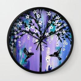 Purple Tree of Life Wall Clock