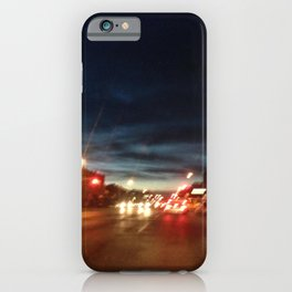 Blurry NYC Nights Photography iPhone Case