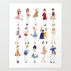 Fashion dolls Art Print