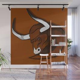 The brown bull Wall Mural