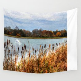 Autumn Swan Wall Tapestry