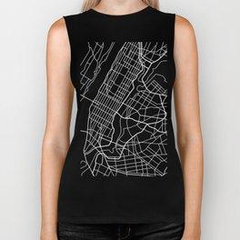 New York City / Manhattan Abstract Map Art Print Biker Tank