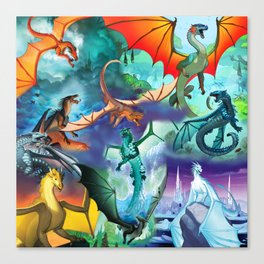 Wings Of Fire Character Canvas Print