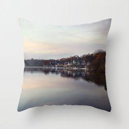 Boat House Row, Philadelphia Throw Pillow