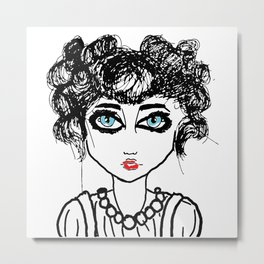 The girl with the blue eyes Metal Print