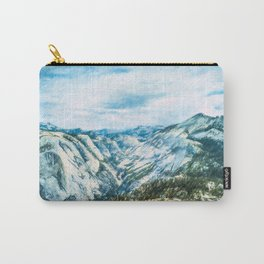Scenic panoramic view of beautiful Sierra Nevada mountain Carry-All Pouch