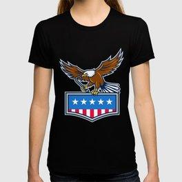 American Eagle Towing J Hook USA Flag Retro T-shirt