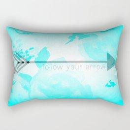 Follow Your Arrow (Aqua) Rectangular Pillow