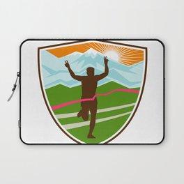 Victorious  Marathon Runner Shield Laptop Sleeve