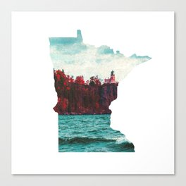 Minnesota-Split Rock Lighthouse at Lake Superior Canvas Print