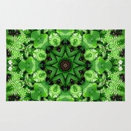 Fern and friends kaleidoscope, mandala - Maidenhair, Adiantum 901 k21 3 Rug
