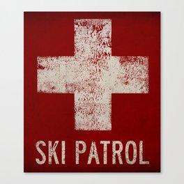 Ski Patrol Blanket Native Vermont Canvas Print